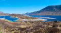 Loch cluanie valley a panorama photo of the in north scotland uk Royalty Free Stock Photos