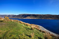 Loch cluanie valley in sunny day scottish highlands scotland uk Stock Photos