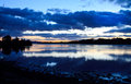 Loch etive just after sunset scotland uk Stock Image