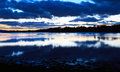Loch etive just after sunset scotland uk Royalty Free Stock Photography