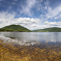 Loch fine by inveraray image of lake fyne in the scottish highlands view from the village of Stock Image