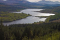Loch garry in the scottish highlands early evening Stock Image