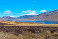 Loch glascarnoch valley a panorama photo of the in north scotland uk Stock Photos