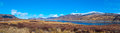 Loch glascarnoch valley a panorama photo of the in north scotland uk Royalty Free Stock Image