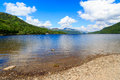 Loch lomond scotland firkin point at in the trossachs national park scotalnd uk Stock Images
