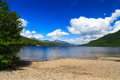 Loch lomond scotland firkin point at in the trossachs national park scotalnd uk Royalty Free Stock Photo