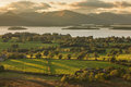 Loch lomond view from duncryne hill over Royalty Free Stock Photo