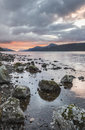 Loch Ness in the Highlands of Scotland. Royalty Free Stock Photo