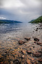 Loch ness scotland image of a typical stormy day in in Stock Images
