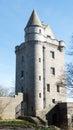 Loch of skene tower huge medieval at aberdeenshire scotland Stock Photos
