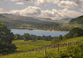 Loch tay in perthshire is a freshwater about fourteen miles or twenty three kilometres long scotland Stock Images