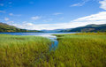 Loch tay summer landscape at scotland Stock Images