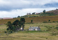 Lochindorb highlands scotland august farmhouses near loc on Stock Images