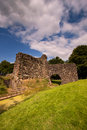 Lochmaben castle dumfries and galloway scotland in is a ruined late th century fortress built by edward i of england once a Stock Photo