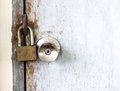 Lock door old with in grungy style and good texture Stock Photos