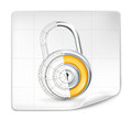 Lock drawing Royalty Free Stock Image