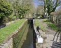 Lock gate canal inland waterways network navigable canals waterways english british countryside uk united kingdom great britain Stock Image