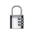 Lock icon with cipher isolated on white Royalty Free Stock Image