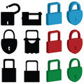 Lock icons Royalty Free Stock Photos