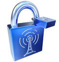 Lock icons as symbol locked signals icon for digital transmitter information Royalty Free Stock Photos
