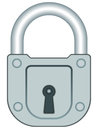 Lock illustration of the icon Stock Image