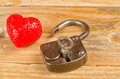 Lock and key to a heart valentines day concept Stock Photos