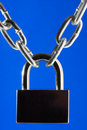 Lock and metal chain Royalty Free Stock Photo