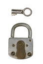 Lock a old padlock with a key Royalty Free Stock Photos