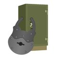 The lock on the safe padlock closing a bank vault illustration a white background Royalty Free Stock Images