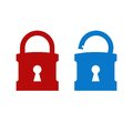 Lock unlock icon Royalty Free Stock Photos