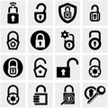 Lock vector icons set on gray grey background eps file available Stock Images