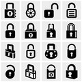 Lock vector icons set on gray isolated grey background eps file available Royalty Free Stock Image
