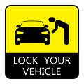 Lock your vehicle- Car parking board