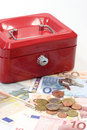 Lockbox and Money Royalty Free Stock Images