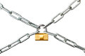 Locked chains Royalty Free Stock Photography