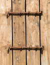 Locked door of traditional Boat House Royalty Free Stock Photo