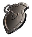Locked metal shield Stock Images
