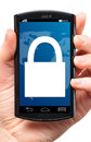 Locked phone Royalty Free Stock Photo