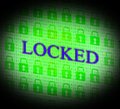 Locked security represents secure unauthorized and locking indicating forbidden protected secured Stock Images