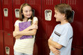 Locker Conversation Royalty Free Stock Photo