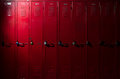 Lockers with Light Royalty Free Stock Photo