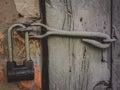 Locking cap that closes the door Royalty Free Stock Photo