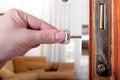 Locking or unlocking the door