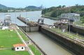 Locks the panama canal s miraflores Royalty Free Stock Photos