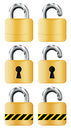 Locks set isolated on white Royalty Free Stock Photo