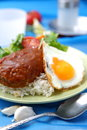 Loco moco is typical hawaiian food Royalty Free Stock Images