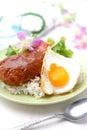 Loco moco is typical hawaiian food Stock Photography