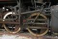 Locomotive old black steam vintage train Stock Photo