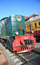 Locomotive old at the station in moscow Royalty Free Stock Photography