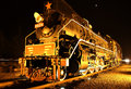 Locomotive old train steam train a in the evening Royalty Free Stock Photo